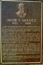 Jacob Y. Shantz Memorial Plaque (55 Kb): Mennonite Archives of Ontario (1992 - 4.1)
